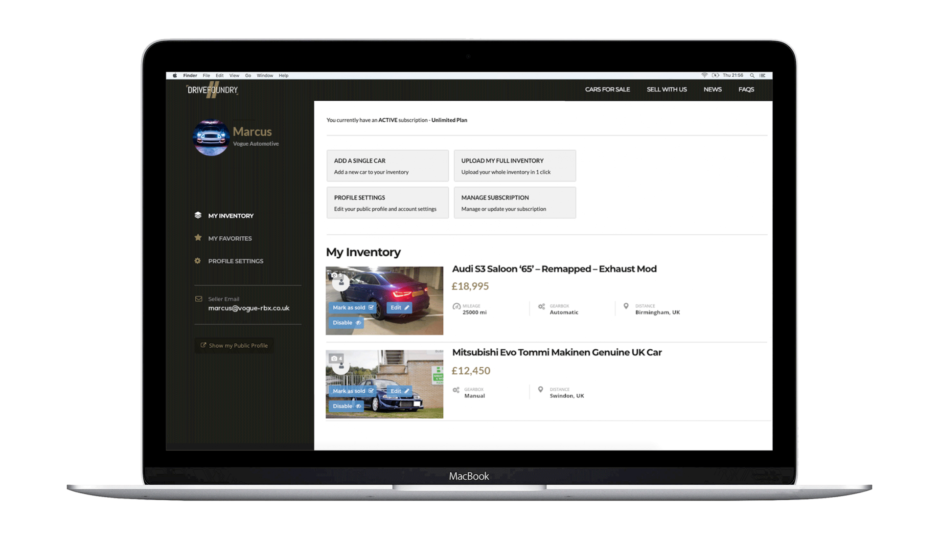 Drivefoundry Dashboard Full