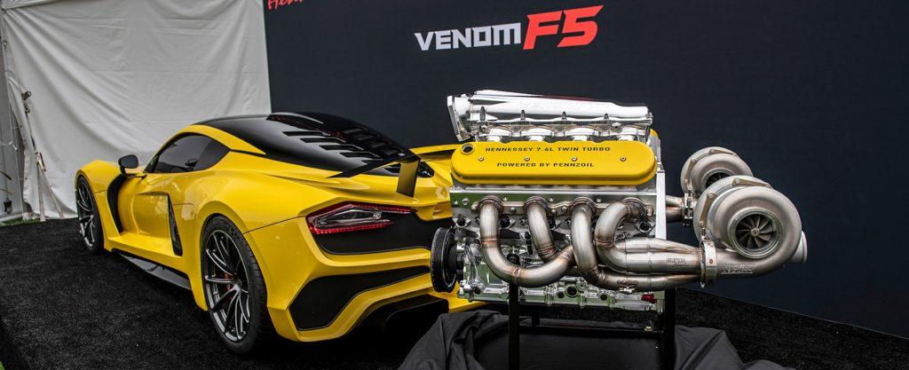 Hennessey Venom F5 Rear Angle