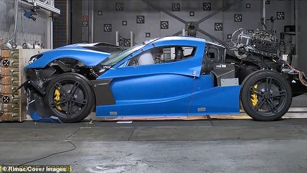 Rimac C Two after crash testing