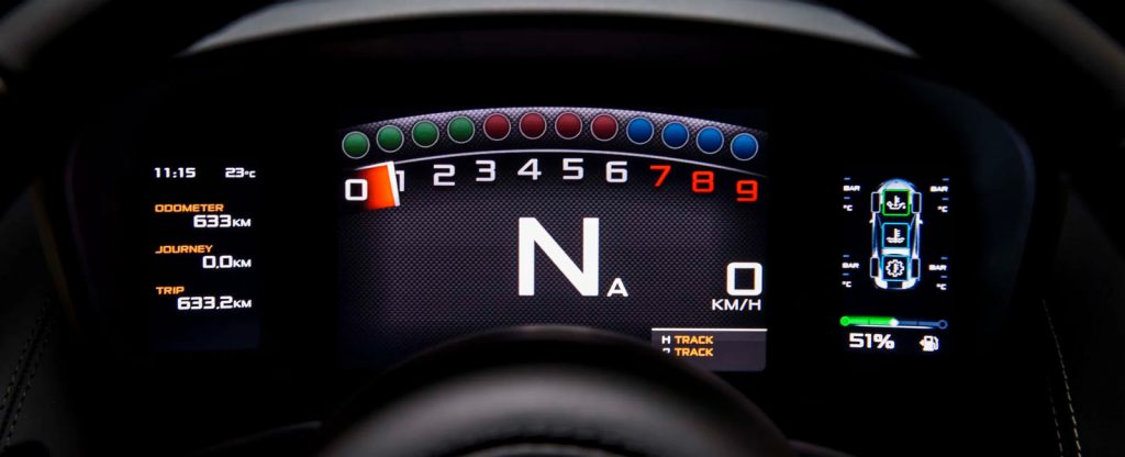McLaren 570s Interior Dashboard TRack Mode