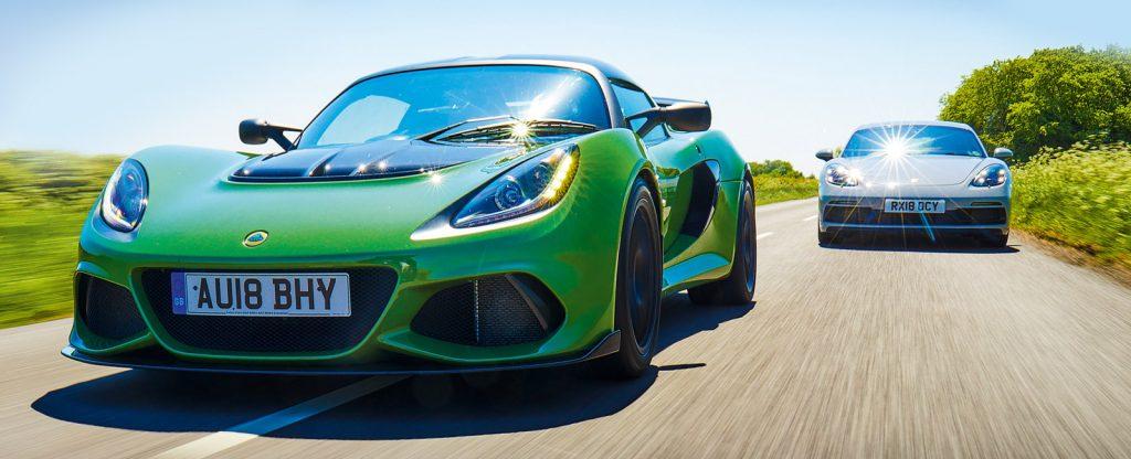Porsche 718 GT4 vs Lotus Exige Sport 410 - The best attainable supercar