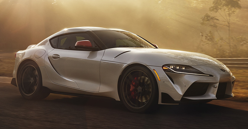 2020 Toyota Supra in hazy sunshine