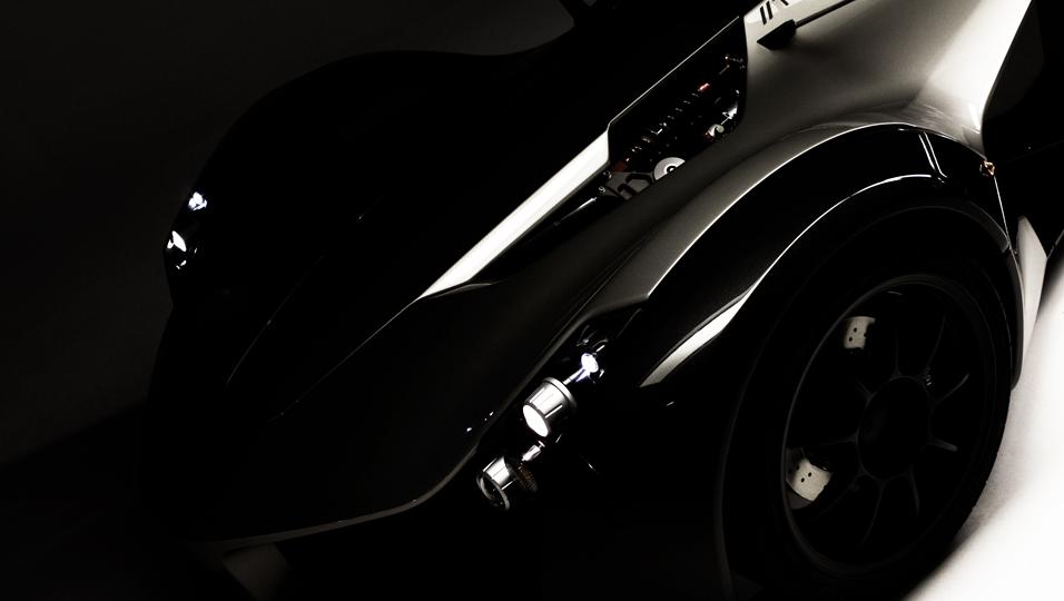 Dark shot of the BAC mono headlight