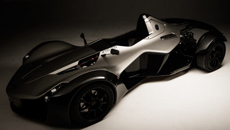 three quarter view of the front of the BAC Mono