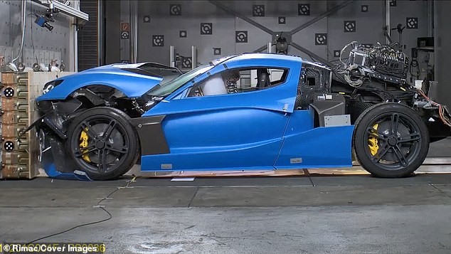 Rimac C Two after crash testing