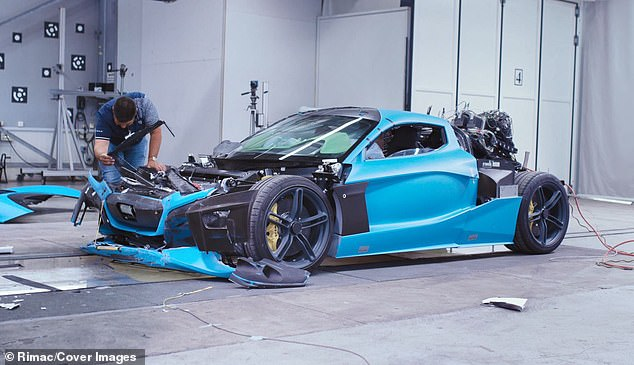 Crashed Rimac C Two