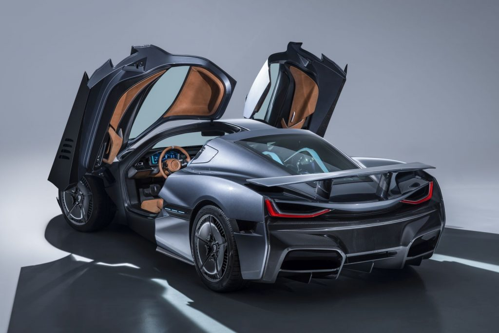 Rimac C Two rear three quarter